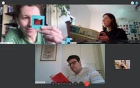 Screenshot eines Online-Meetings